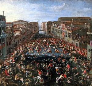 El Ponte dei Pugni, inmortalizado en esta pintura de Joseph Heintz