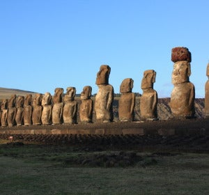 Ahu Tongariki en Rapa Nui (Pascua)