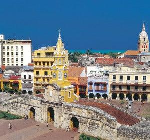 Entrada al centro histórico de Cartagena de Indias