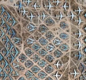 Cementerio de aviones AMARC. Tucson