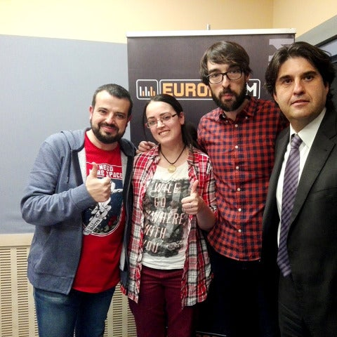 Nieves Core, la capitana de CD Tacón eSports, y Manuel Marinero, el director general, en Europlay