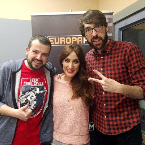 Ana Morgade con Kiko Béjar y Quique Peinado en #EuroPlay19