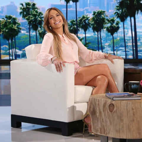 Jennifer Lopez en el programa de Ellen DeGeneres