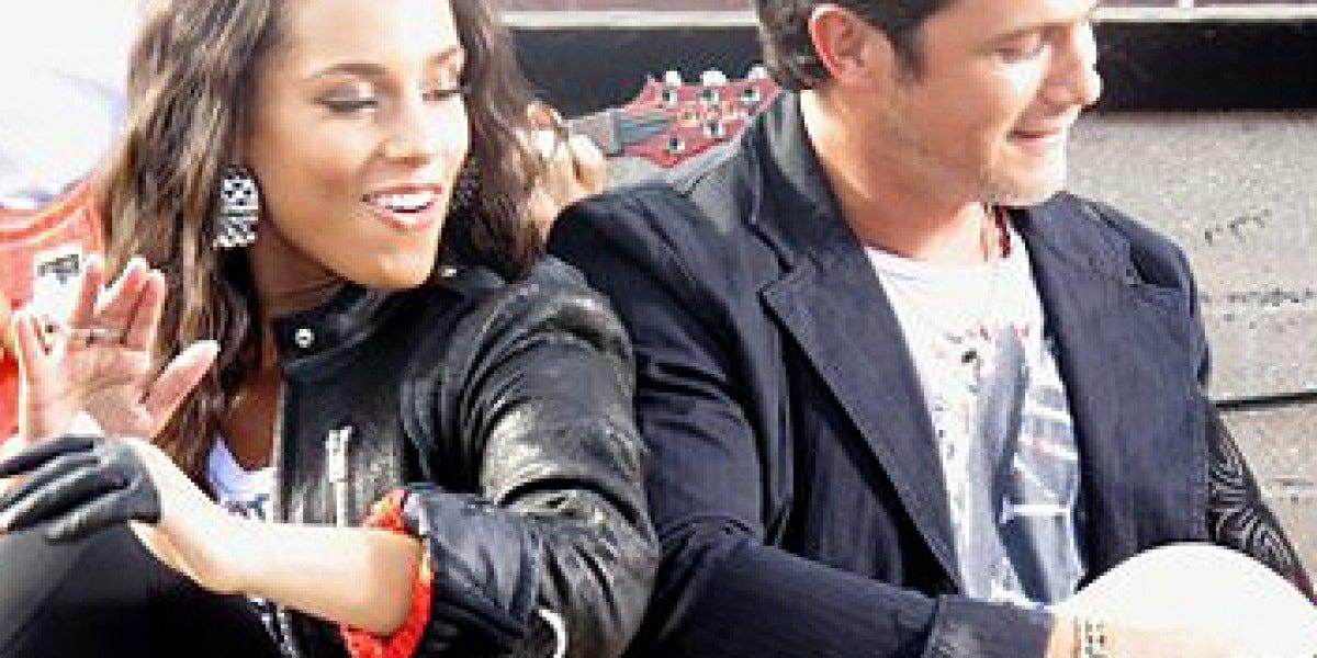 Alicia Keys y Alejandro Sanz