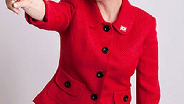Julianne Moore caracterizada como Sarah Palin