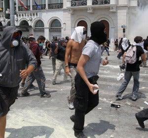 Los griegos se echan a la calle