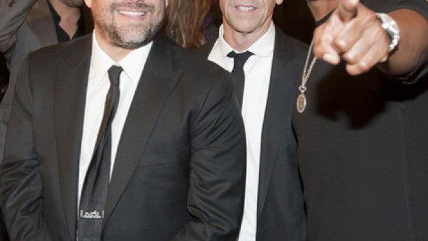Eddie Murphy con Brett Ratner y Brian Grazer
