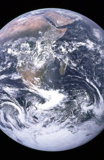 La tierra vista desde la NASA en 1972
