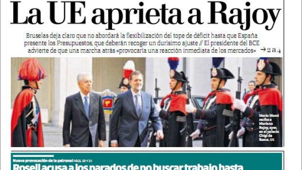 Última portada del diario Público