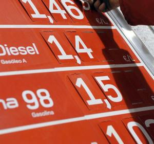 Cambio de precios en las gasolineras.