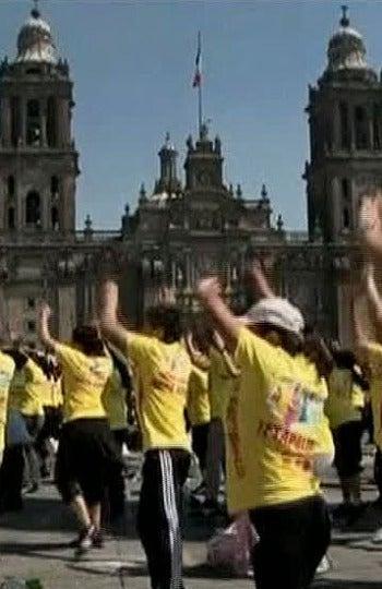 Récord de baile de aeróbic en México DF