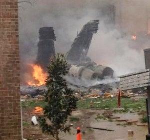 Avión caza F-18 se estrella