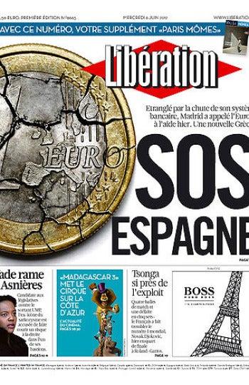 Portada del diario Libération