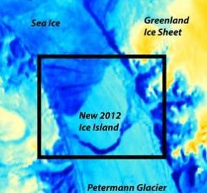 Imagen del tempano de hielo