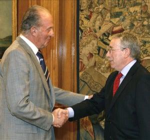 El rey recibe a los líderes sindicales Toxo y Méndez