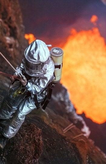 Descendiendo al volcán