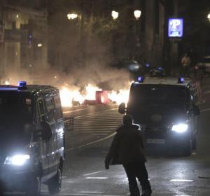 La policía en Atocha