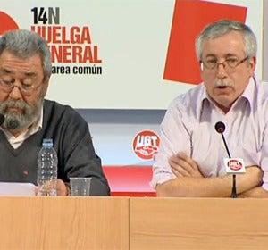 Toxo y Méndez valoran la huelga del 14-N