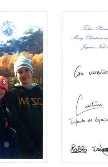 La felicitación navideña de los Duques de Palma y sus hijos