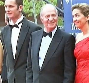 Iñaki Urdangarín con el rey, Corinna y la infanta Cristina en 2004