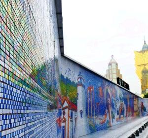 Mosaico de 61 metros en Macau (China)