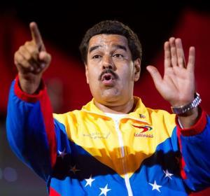 Nicolás Maduro en un acto en Venezuela