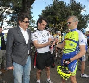 Inauguración de señalización de ciclistas
