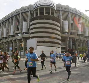 La carrera pasa por el Bernabéu