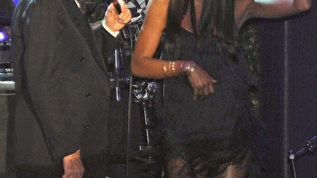 Julio Iglesias durante su actuación en Barcelona