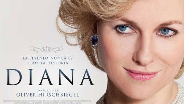 Cartel de Diana con Naomi Watts