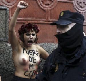 Una activista de Femen en Madrid