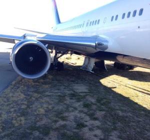 Salida de pista de un avión