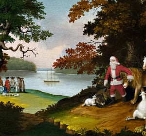 Santa Amongst the Animals