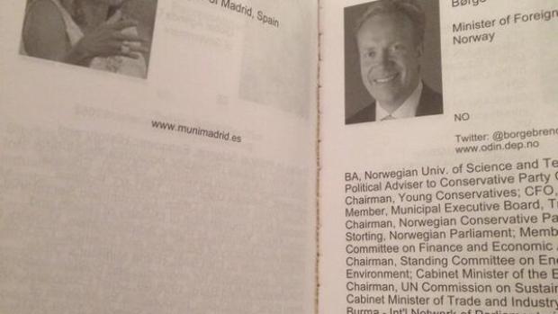 El CV de Botella en Davos