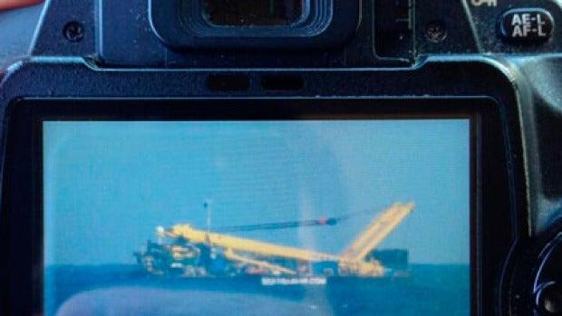Imagen del remolcador en el mar