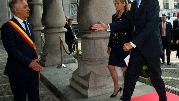 El rey Felipe VI llegando a la ceremonia
