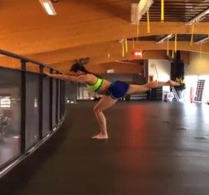 Flexión sobre una pierna