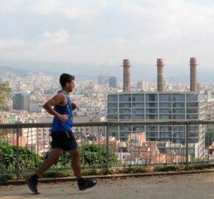 Corriendo por la zona de Montjuic