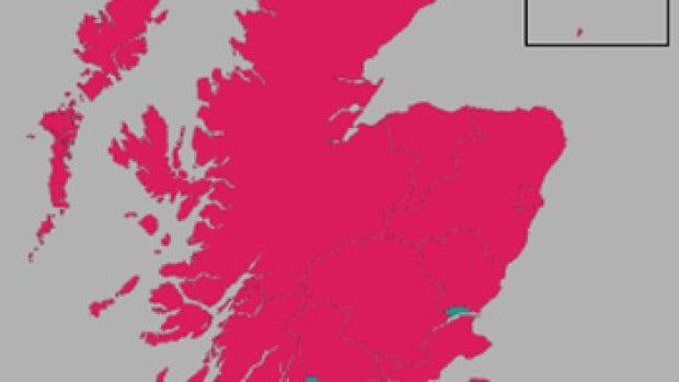 Resultados Escocia por regiones