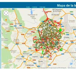 Mapa de la bici Madrid