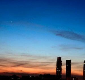 Anochecer en Madrid