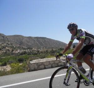 Ciclista en bici Carlos Sastre
