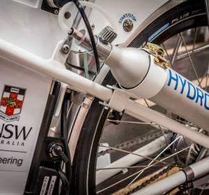 Pila de hidrógeno que llevan las bicis