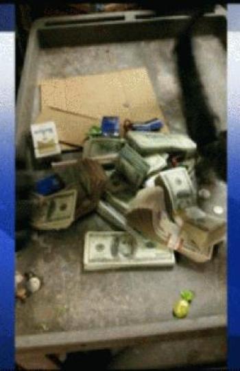 Foto del dinero encontrado