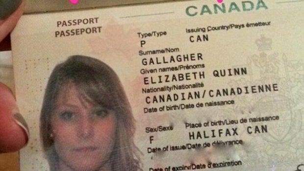 Pasaporte de Elizabeth Gallagher