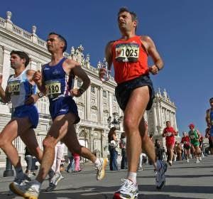 Runners por el Palacio Real de Madrid