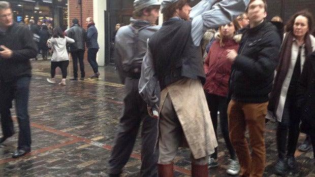 Actores evacuados