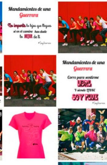 Collage con fotos de las Guerreras Running