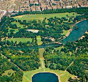 Hyde Park desde el aire