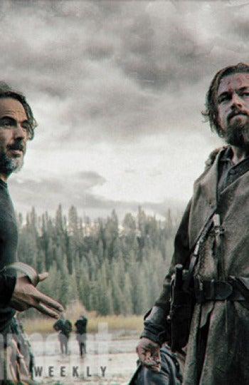 Iñárritu en un momento del rodaje con Leonardo DiCaprio